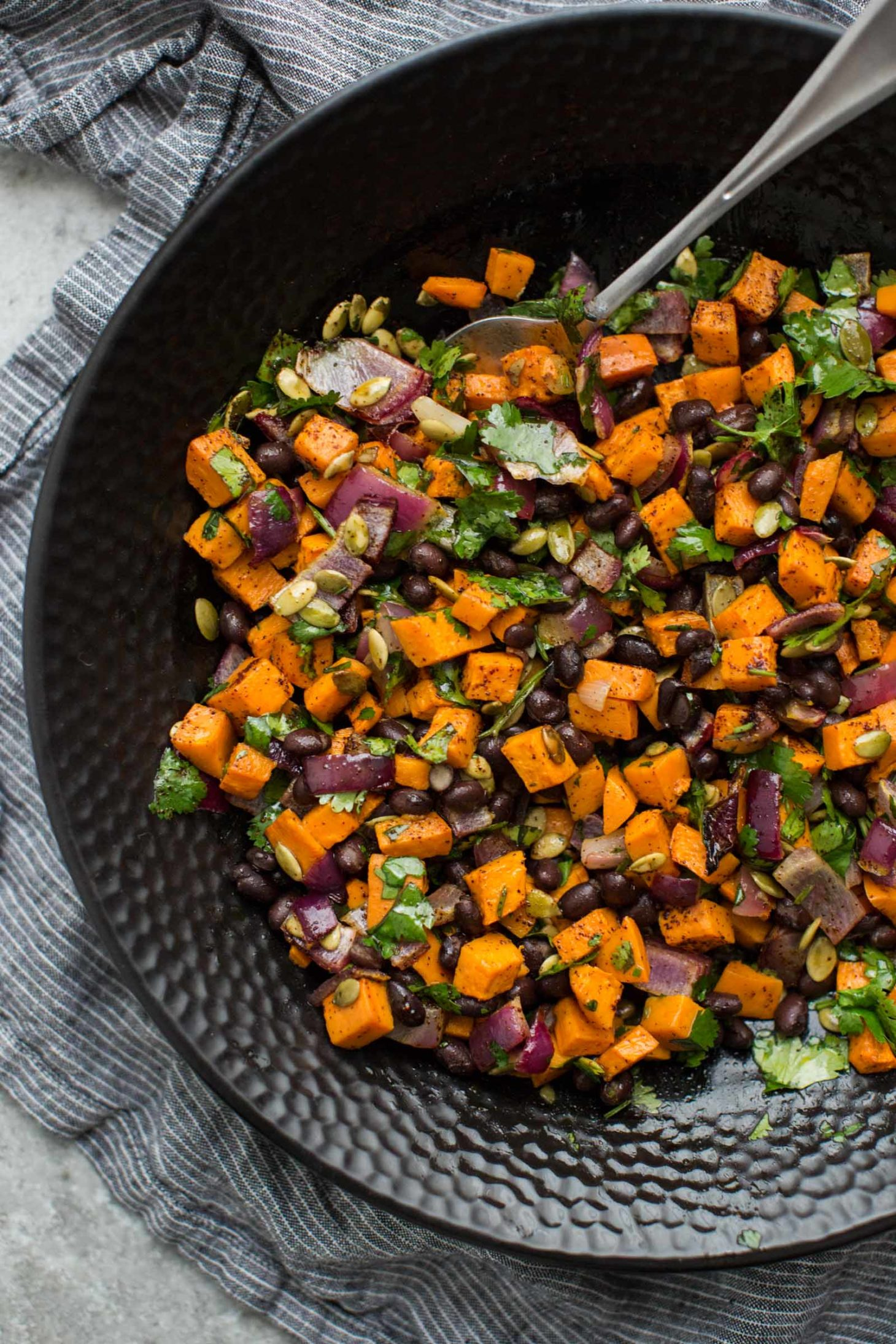 Black Bean Salad With Roasted Sweet Potatoes Naturally