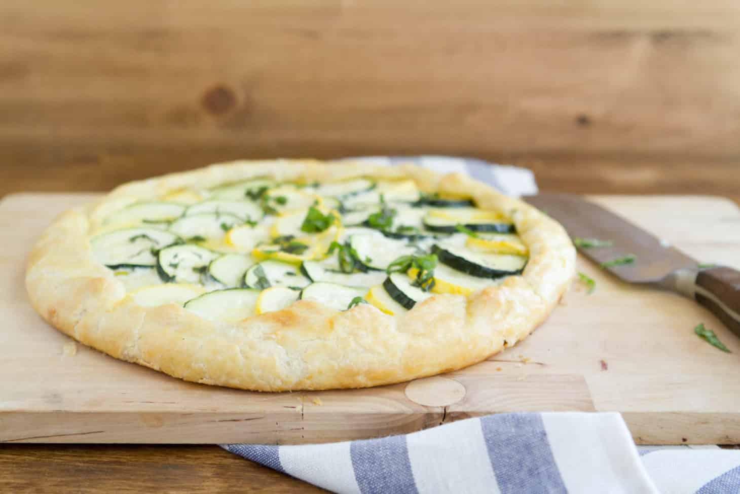 Zucchini Squash And Ricotta Galette Naturally