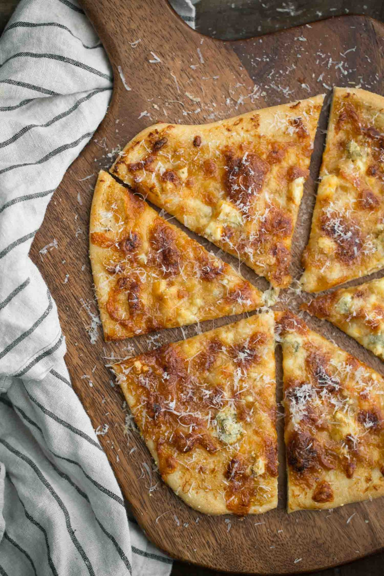 Fig Jam Flatbread with Roasted Garlic and Blue Cheese   Naturally Ella