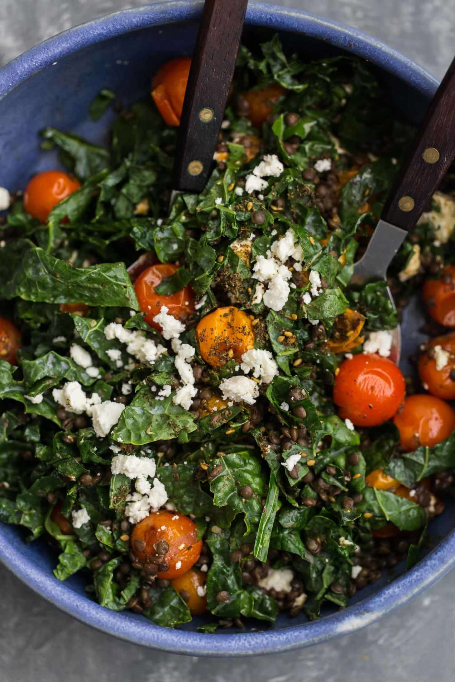 Za Atar Roasted Tomato Salad With Black Lentils Naturally