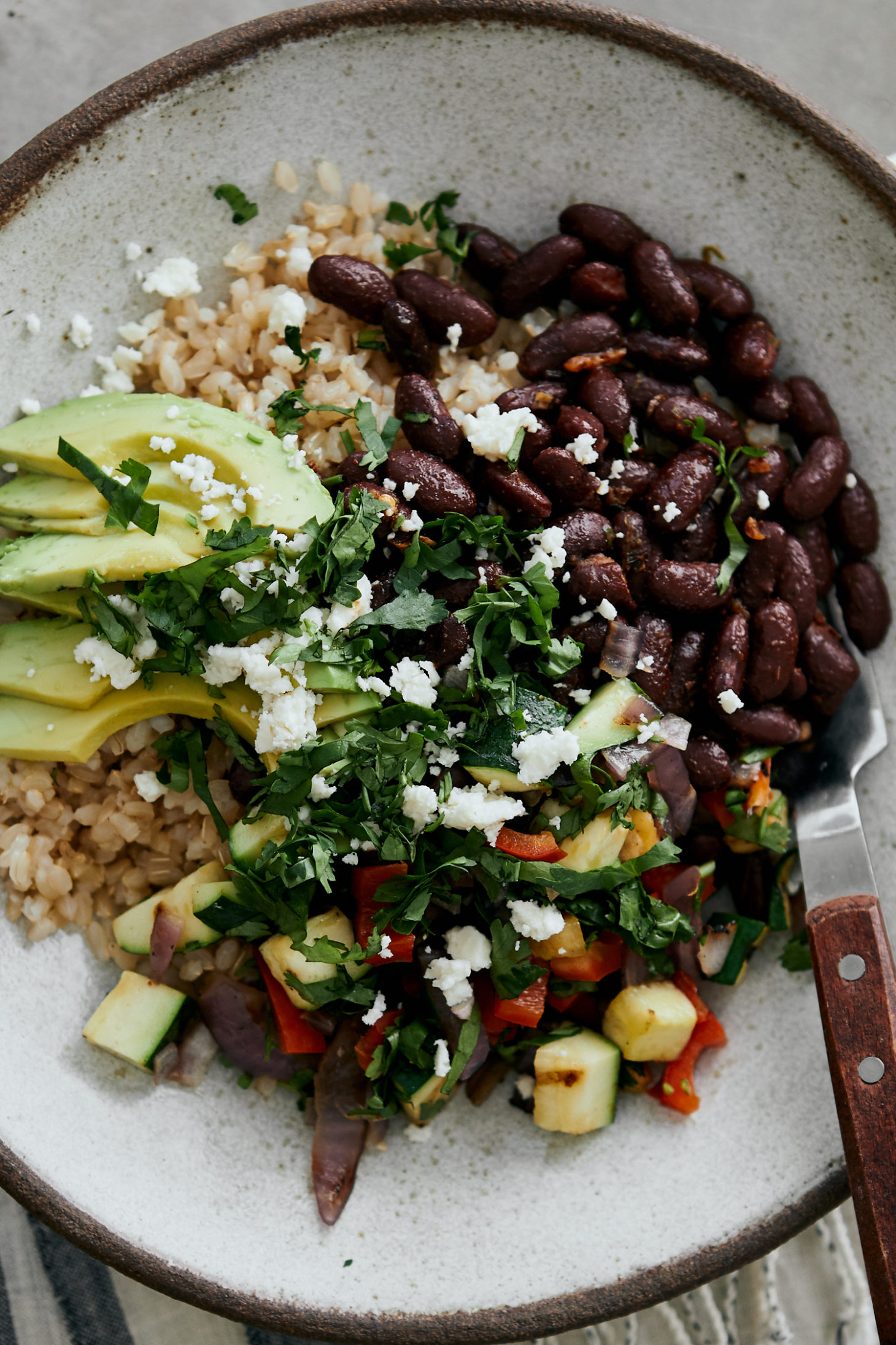 Grilled Summer Veg Bowl With Kidney Beans Naturally